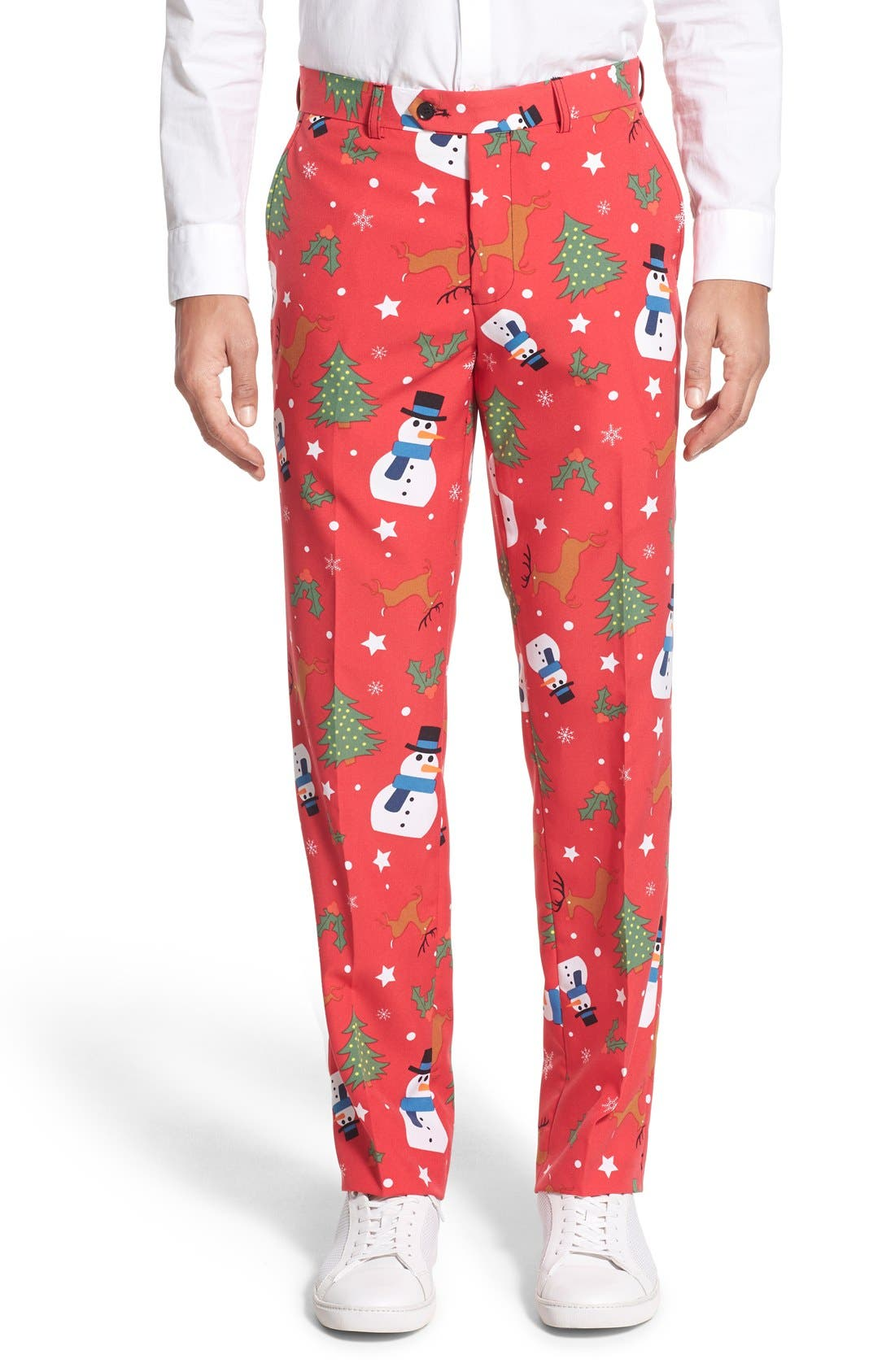 'Christmaster' Holiday Suit & Tie,                             Alternate thumbnail 5, color,                             Red