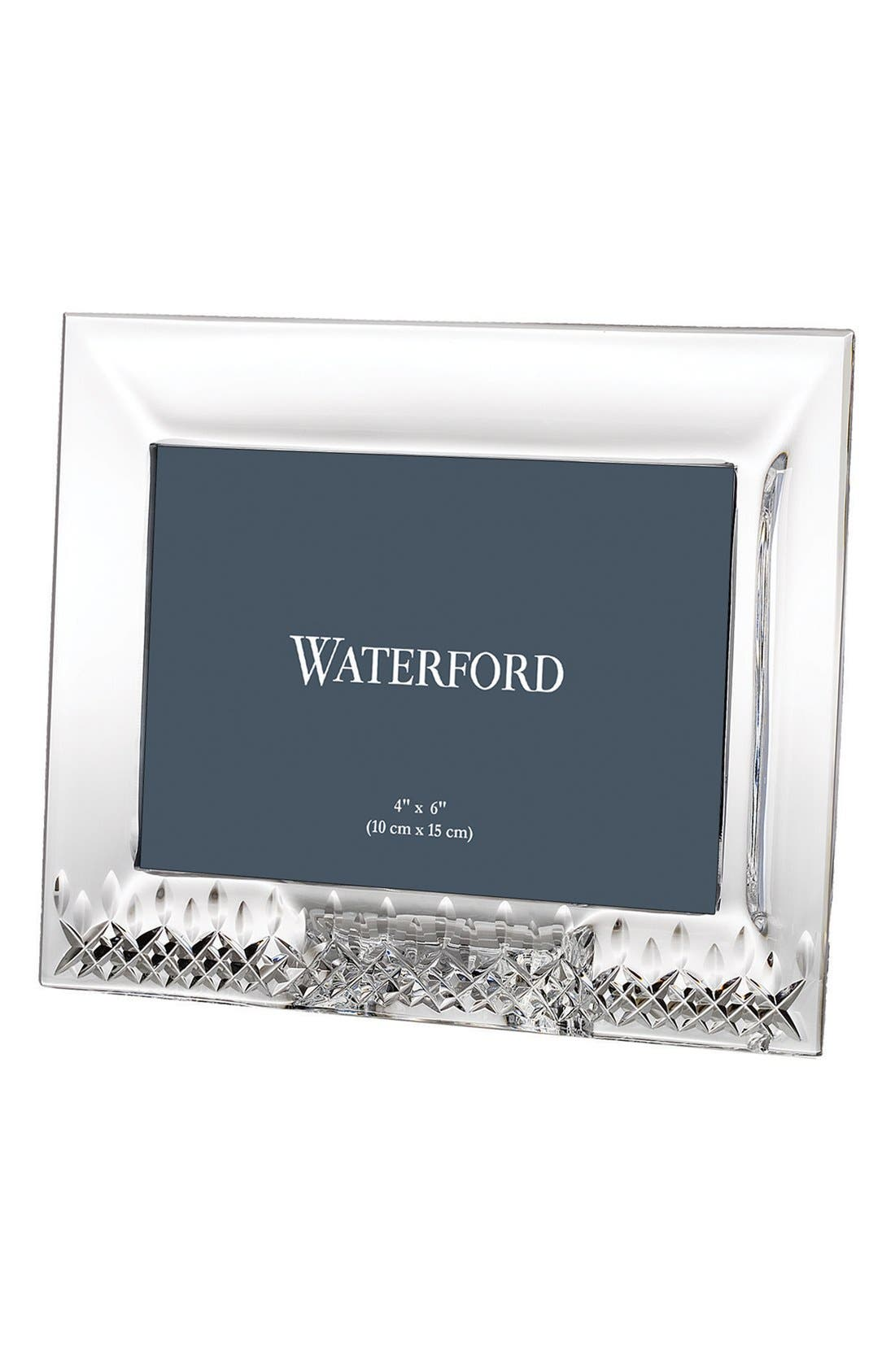 Lismore Essence Lead Crystal Picture Frame,                             Main thumbnail 1, color,                             Clear