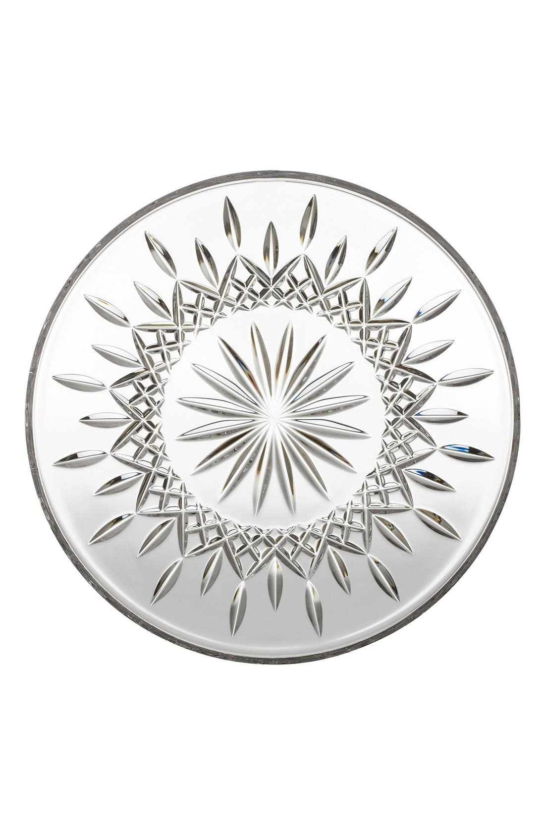 'Lismore' Lead Crystal Cake Plate,                             Main thumbnail 1, color,                             Clear