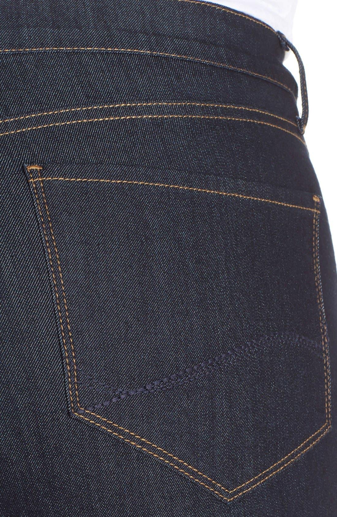 Alternate Image 4  - NYDJ 'Briella' Stretch Roll Cuff Denim Shorts (Dark) (Plus Size)