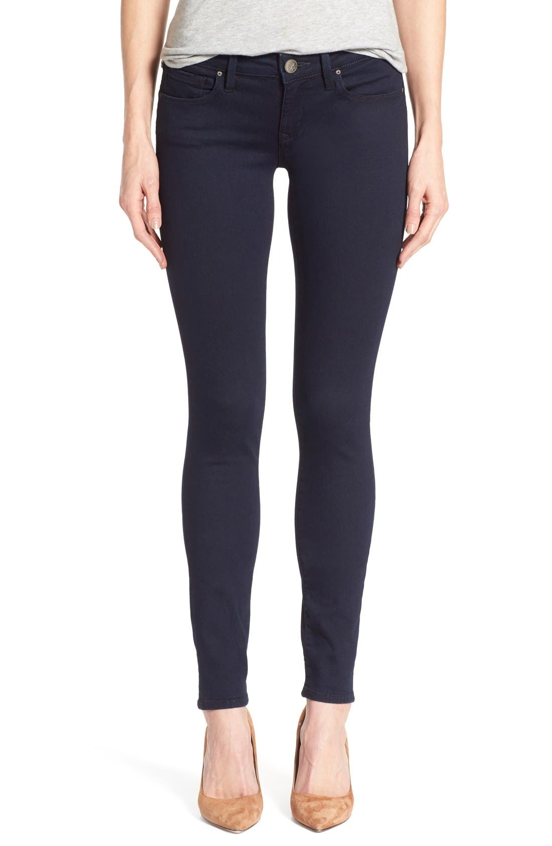Alternate Image 1 Selected - Mavi Jeans 'Serena' Stretch Skinny Jeans (Dark Shanti) (Regular & Petite)