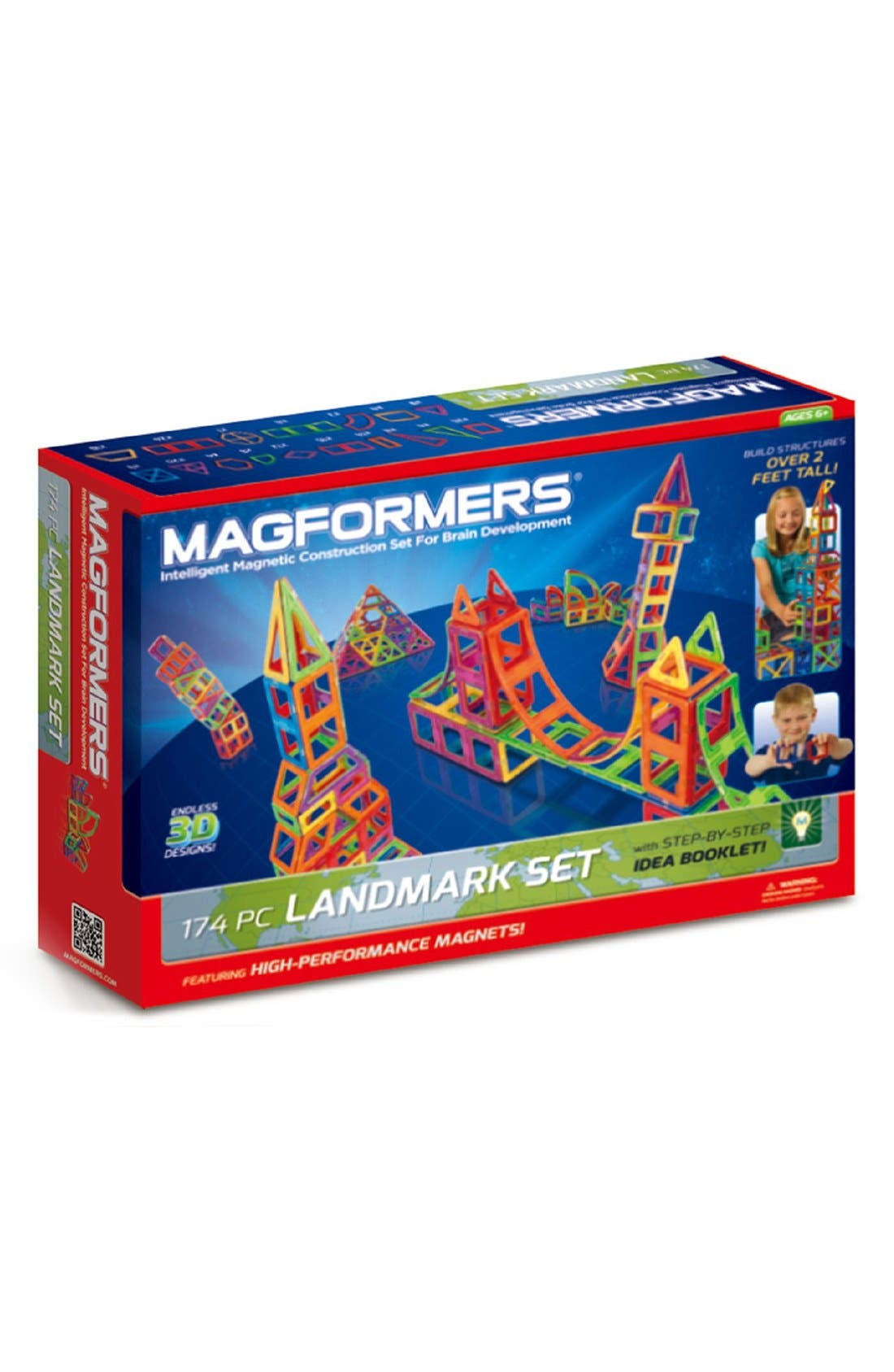 'Landmark' Magnetic 3D Construction Set,                             Main thumbnail 1, color,                             Multi