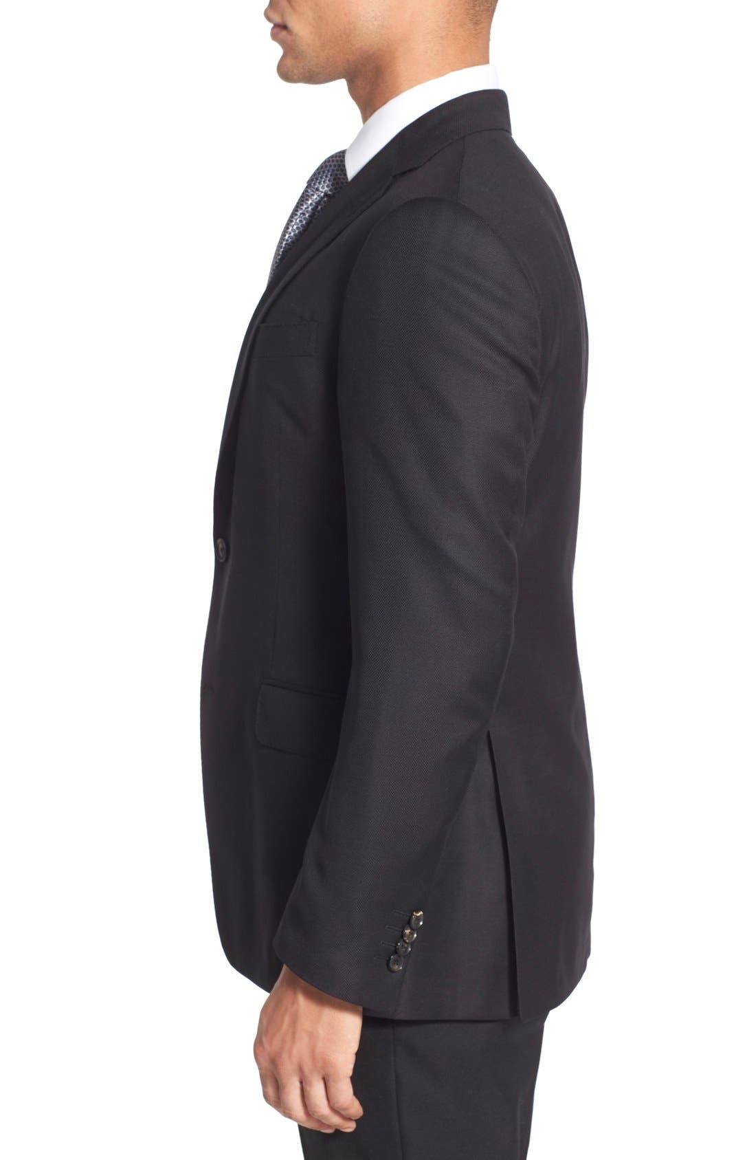 Classic Fit Wool Blazer,                             Alternate thumbnail 3, color,                             Black