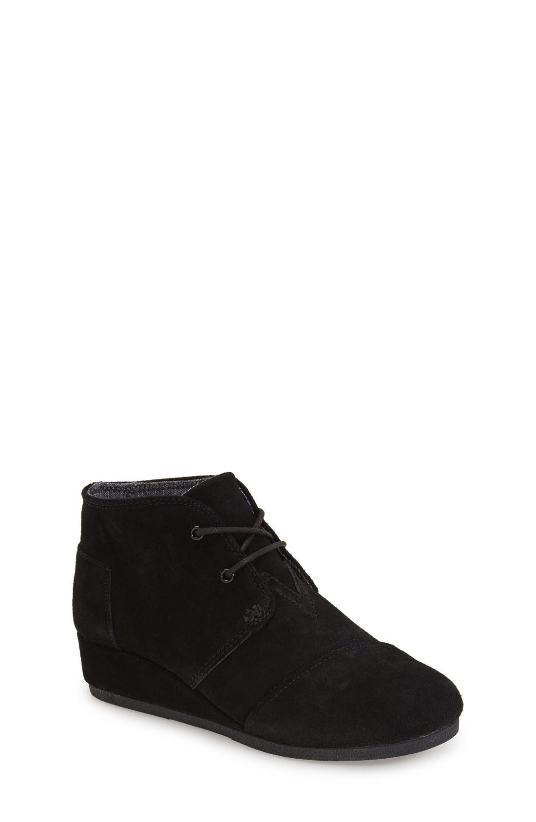 TOMS 'Desert - Youth' Wedge Bootie (Toddler, Little Kid & Big Kid)