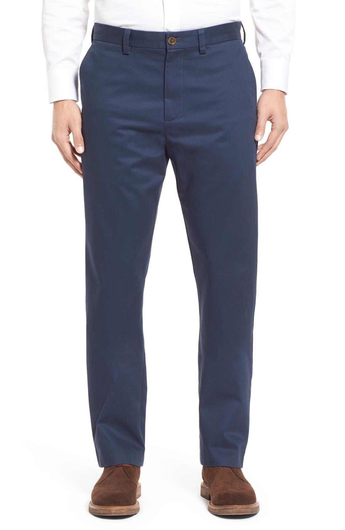Alternate Image 1 Selected - Nordstrom Men's Shop Wrinkle Free Straight Leg Chinos