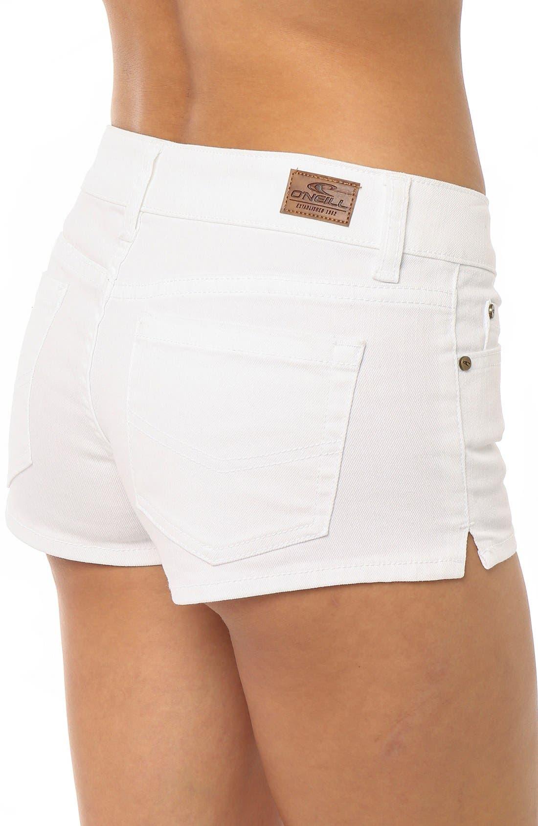 Alternate Image 4  - O'Neill 'Wesley' Denim Shorts (White)