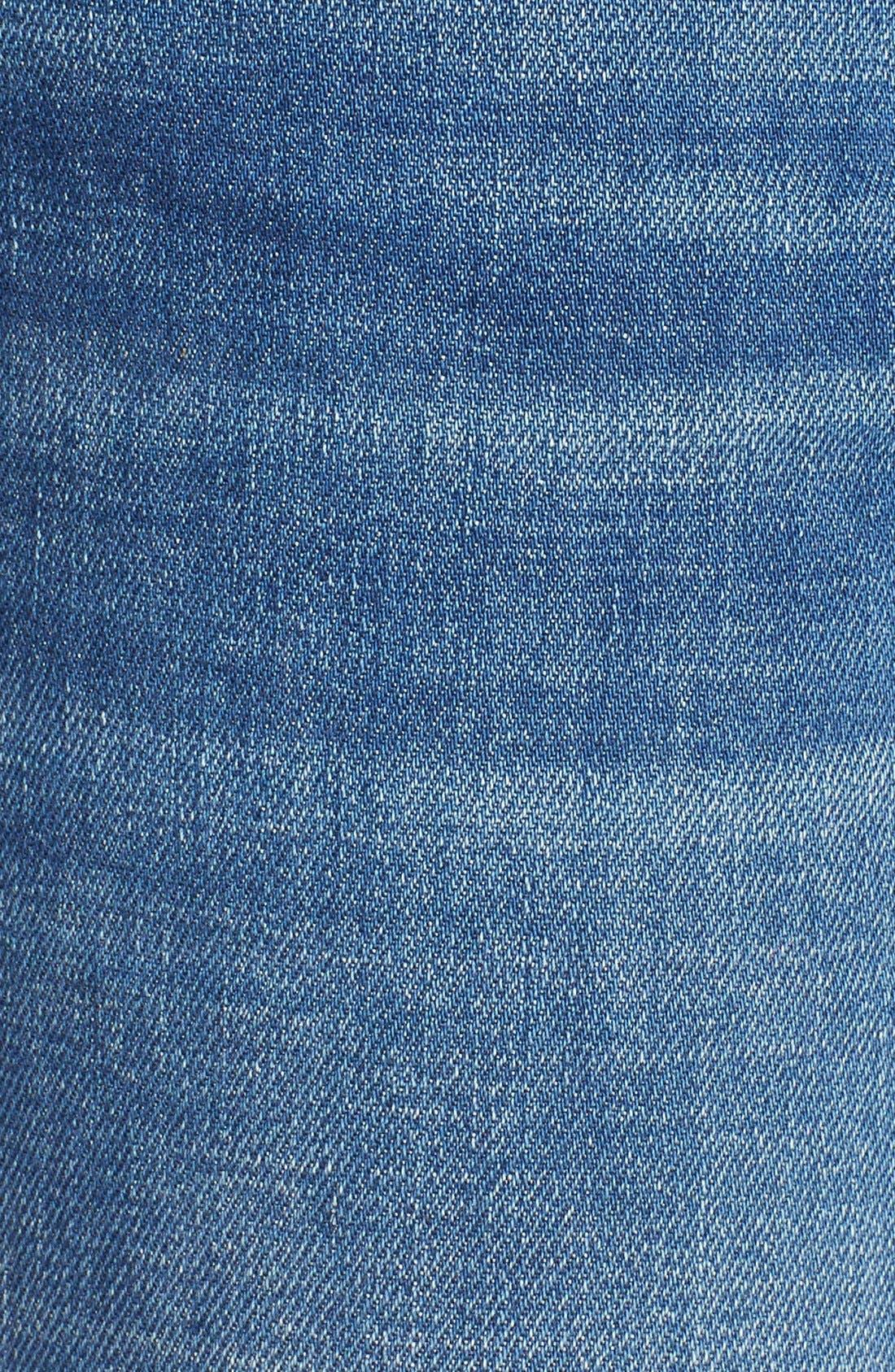 Alternate Image 5  - Vigoss 'Tomboy Thompson' Destructed Jeans (Medium Wash)