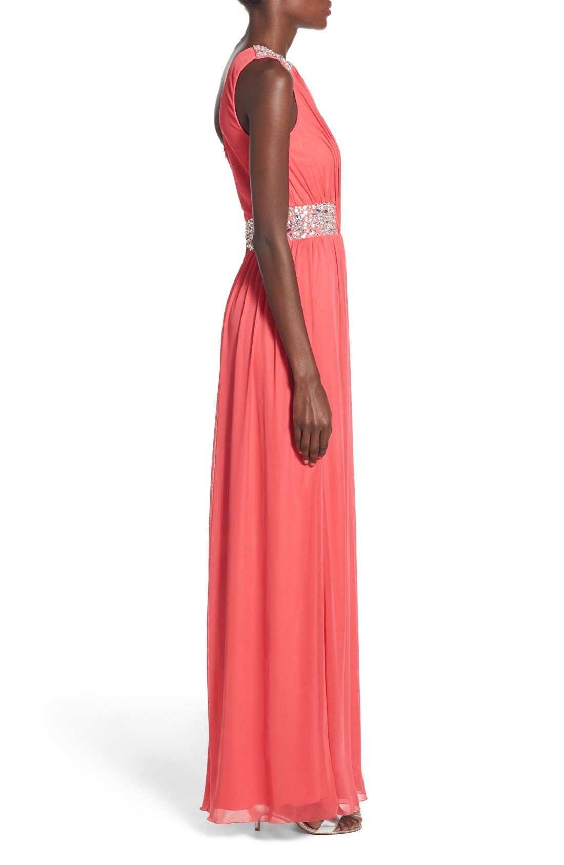 Alternate Image 3  - Speechless 'Shelby' Embellished One Shoulder Gown