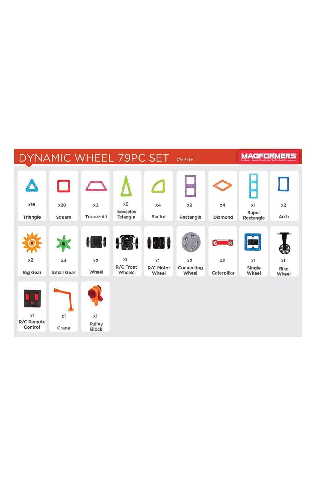 'Dynamic Wheel' Magnetic Remote Control Vehicle Construction Set,                             Alternate thumbnail 3, color,                             Rainbow
