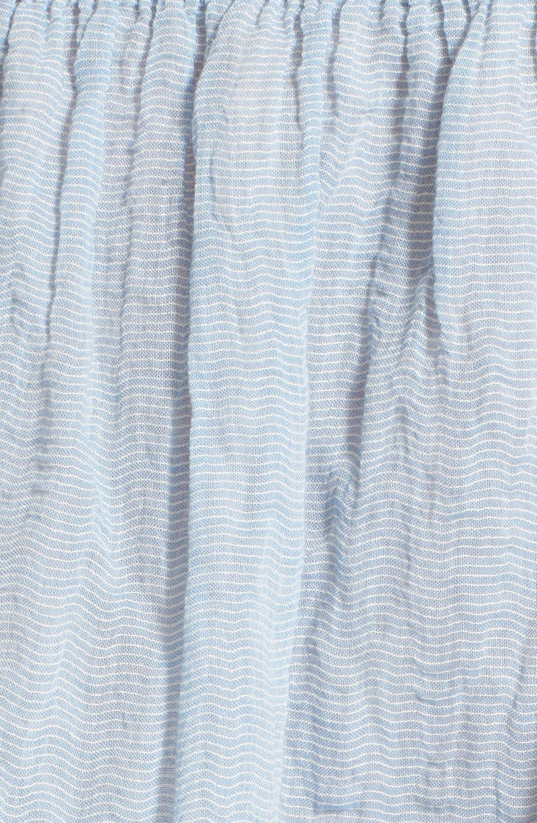 Alternate Image 5  - See by Chloé Stripe Cotton Voile Off the Shoulder Top