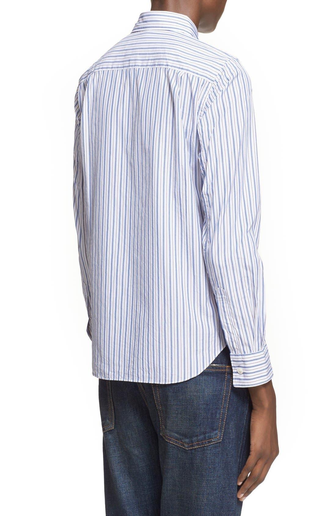 Comme des Garçons PLAY Stripe Shirt,                             Alternate thumbnail 2, color,                             Blue