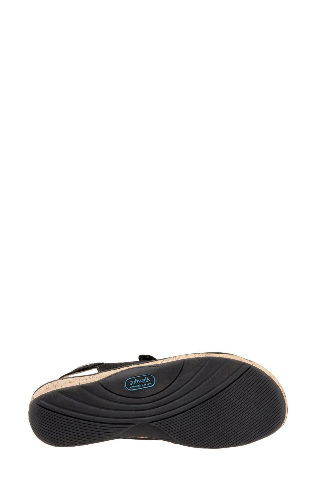 'Bolivia' Sandal,                             Alternate thumbnail 4, color,                             Black Perforated Leather