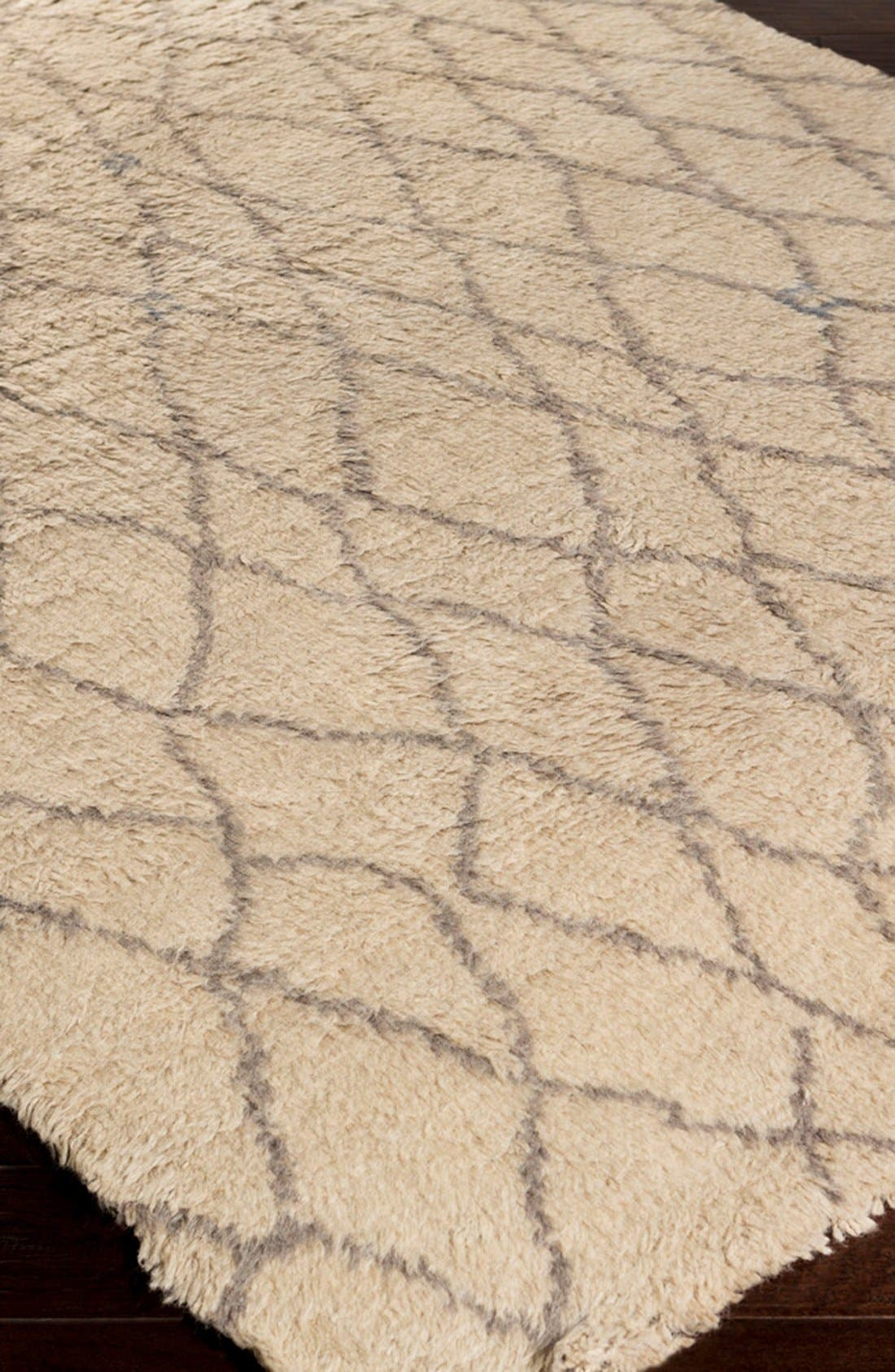'Denali - Lines' Wool Rug,                             Alternate thumbnail 2, color,                             Beige/ Grey