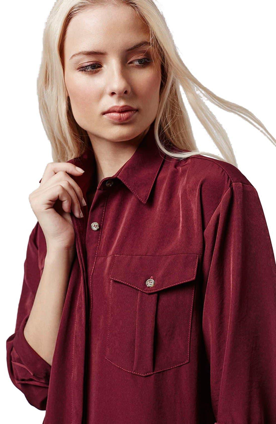 Alternate Image 5  - Topshop Oversize Shirtdress