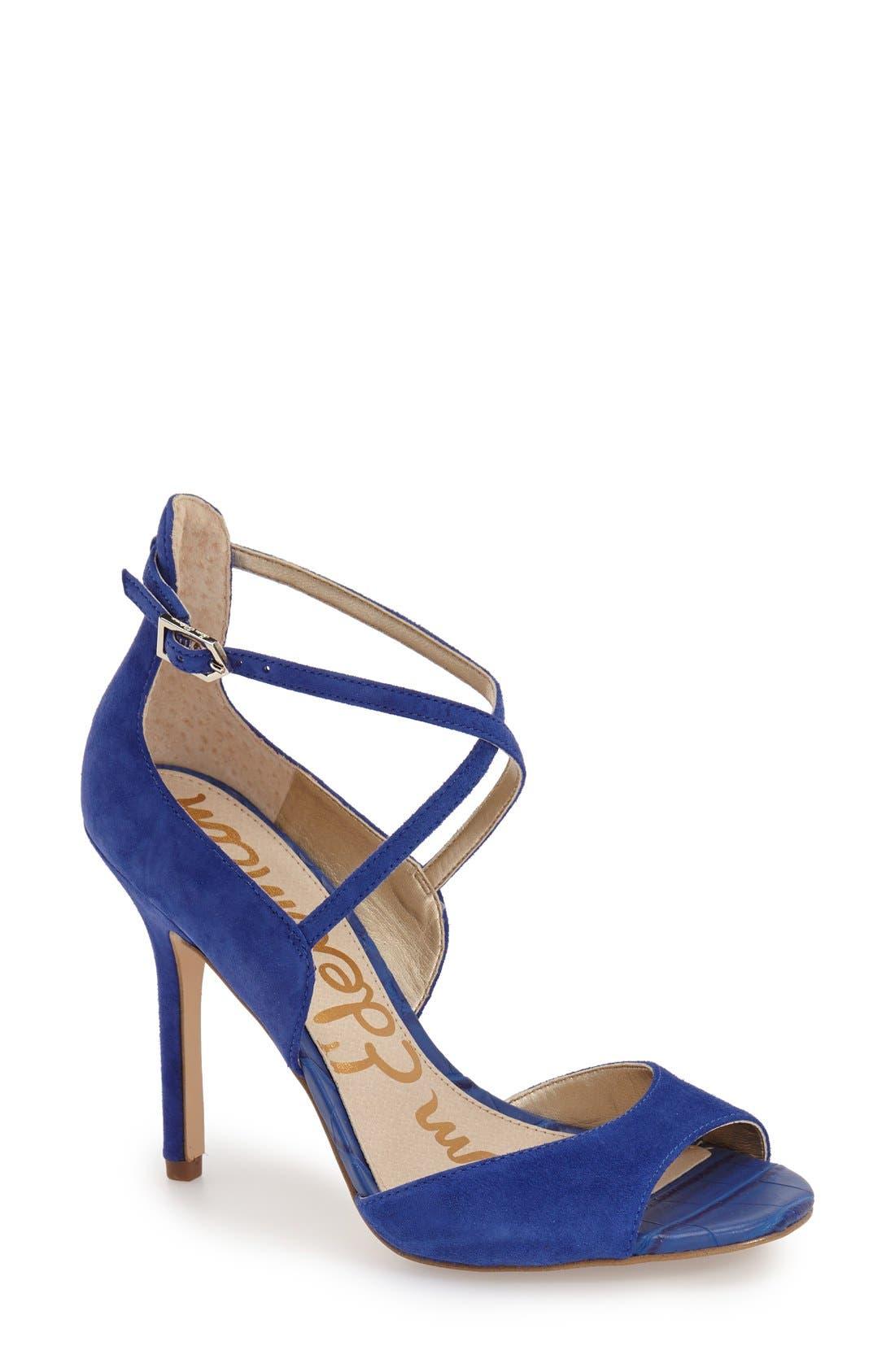 'Audrey' Sandal,                         Main,                         color, Sailor Blue