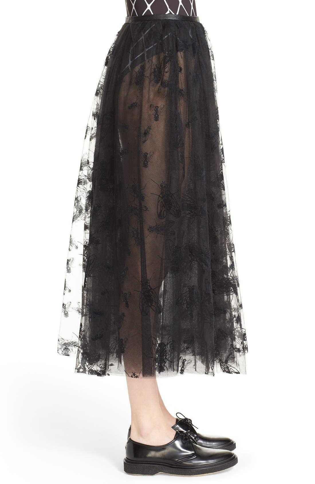 Alternate Image 5  - Ashley Williams 'Flock Fly' Sheer Tulle Skirt