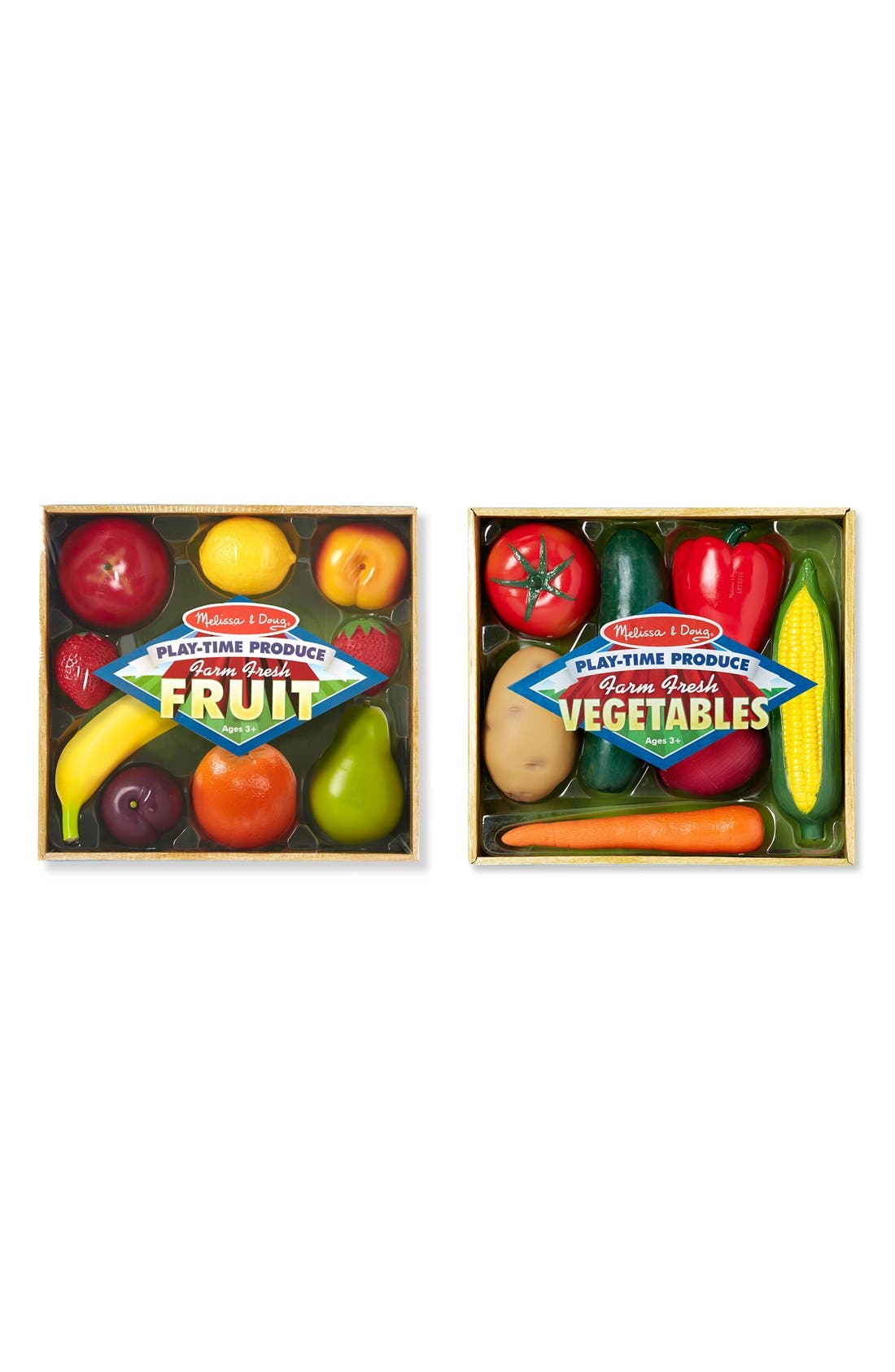 Main Image - Melissa & Doug 'Play-Time Produce Fruit and Vegetables' Play Food (2-Pack)