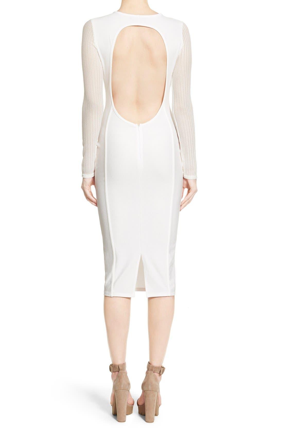 Alternate Image 2  - Missguided Open Back Midi Dress