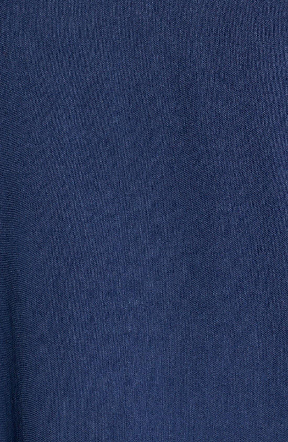 'Catalina Twill' Original Fit Silk Camp Shirt,                             Alternate thumbnail 5, color,                             Navy