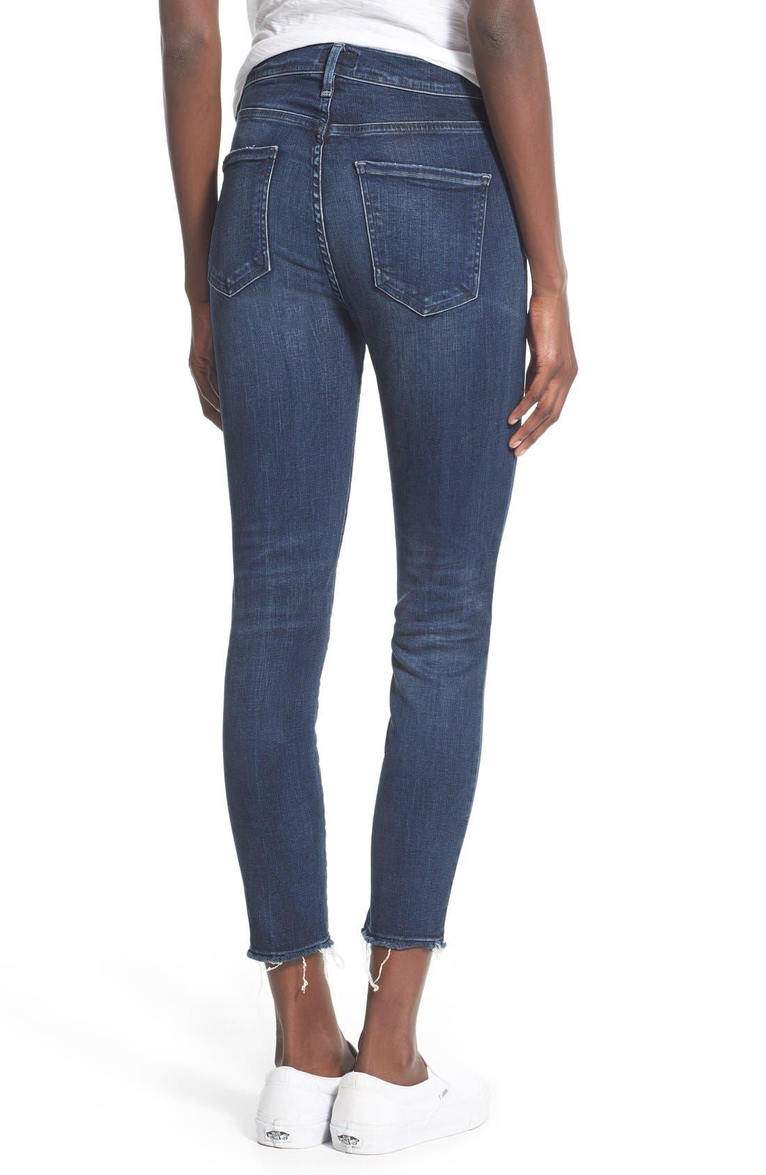 A Gold E 'Sophie' Crop Jeans,                             Alternate thumbnail 2, color,                             Claremont (Med Wash)