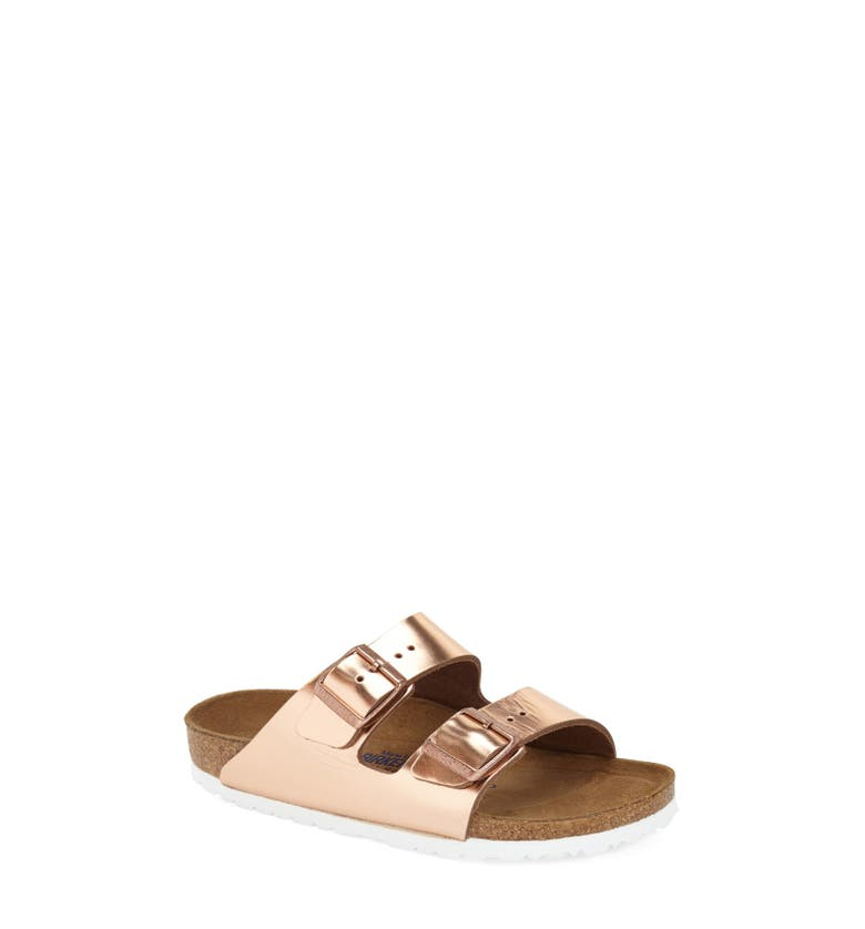 'Arizona' Soft Footbed Sandal, Main, color, Copper Leather