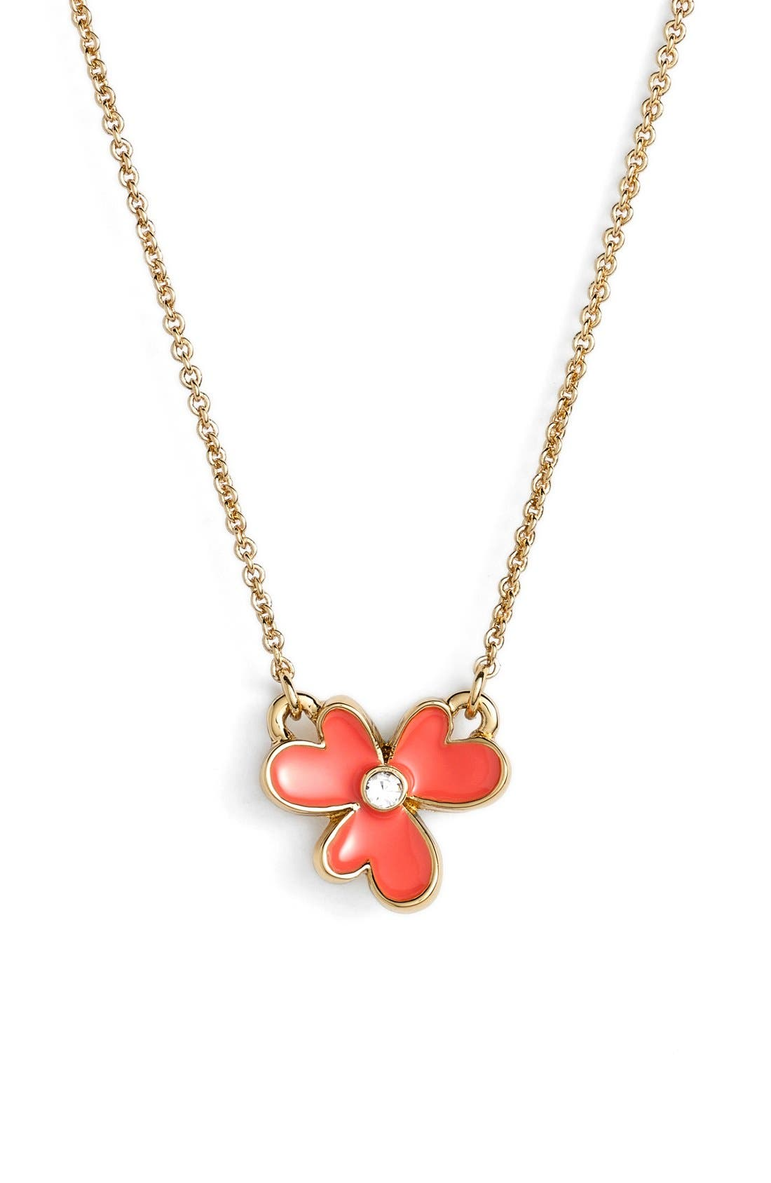 Main Image - kate spade new york 'pansy blossoms' clover pendant necklace