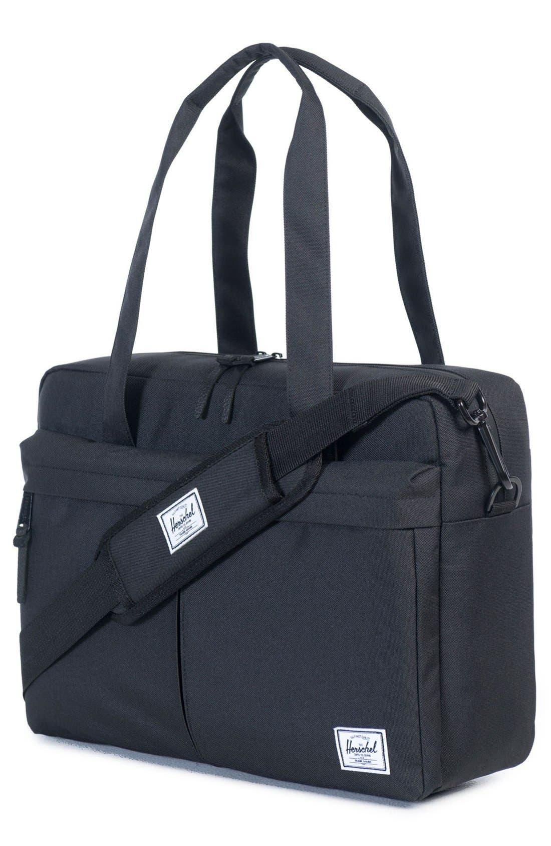 'Gibson' Messenger Bag,                             Alternate thumbnail 2, color,                             Black