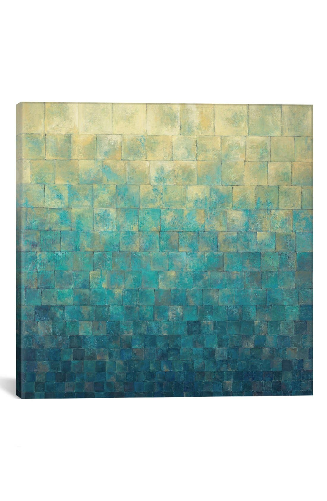 'Cascade' Giclée Print Canvas Art,                             Main thumbnail 1, color,                             Blue