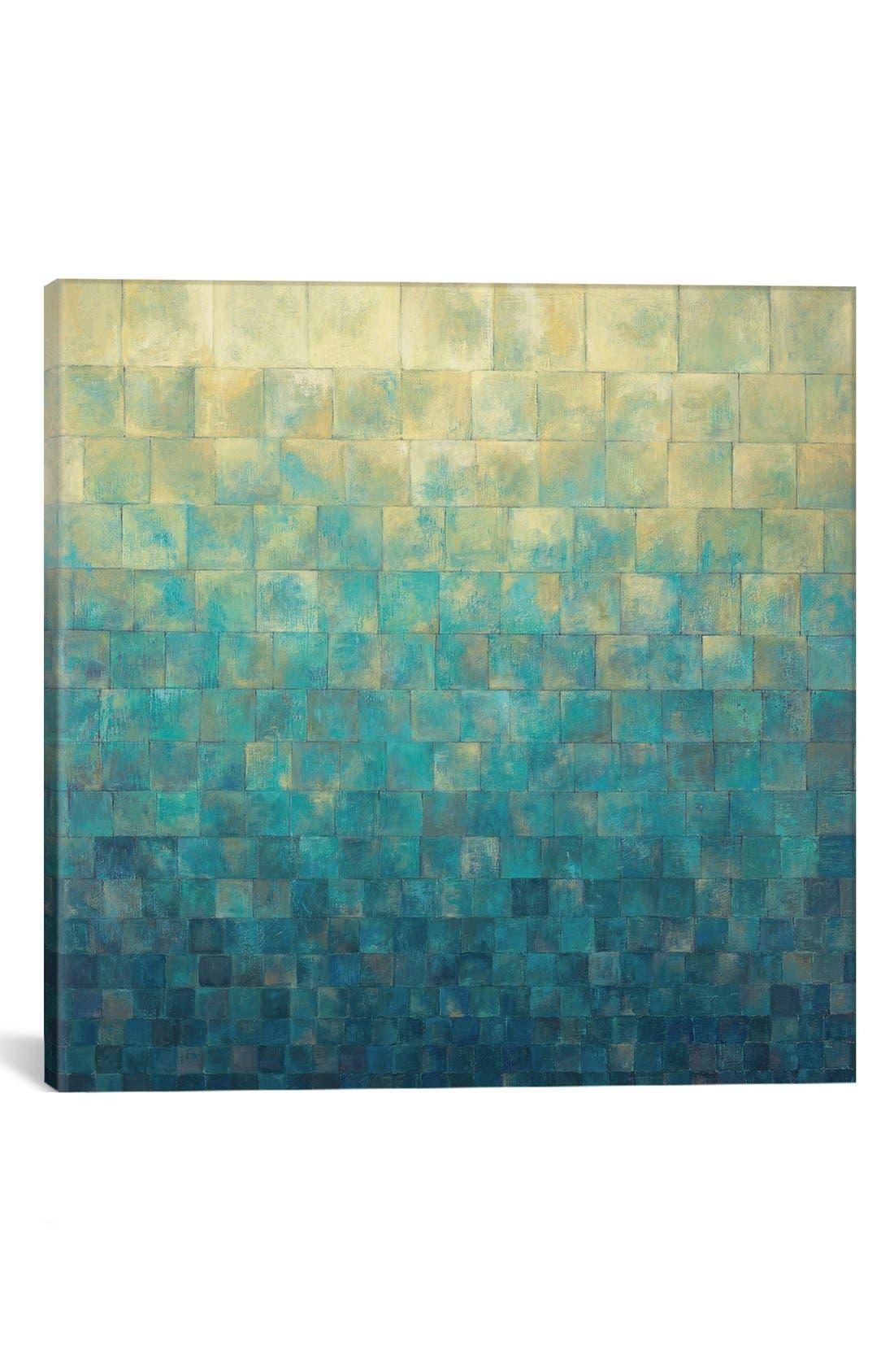 'Cascade' Giclée Print Canvas Art,                         Main,                         color, Blue