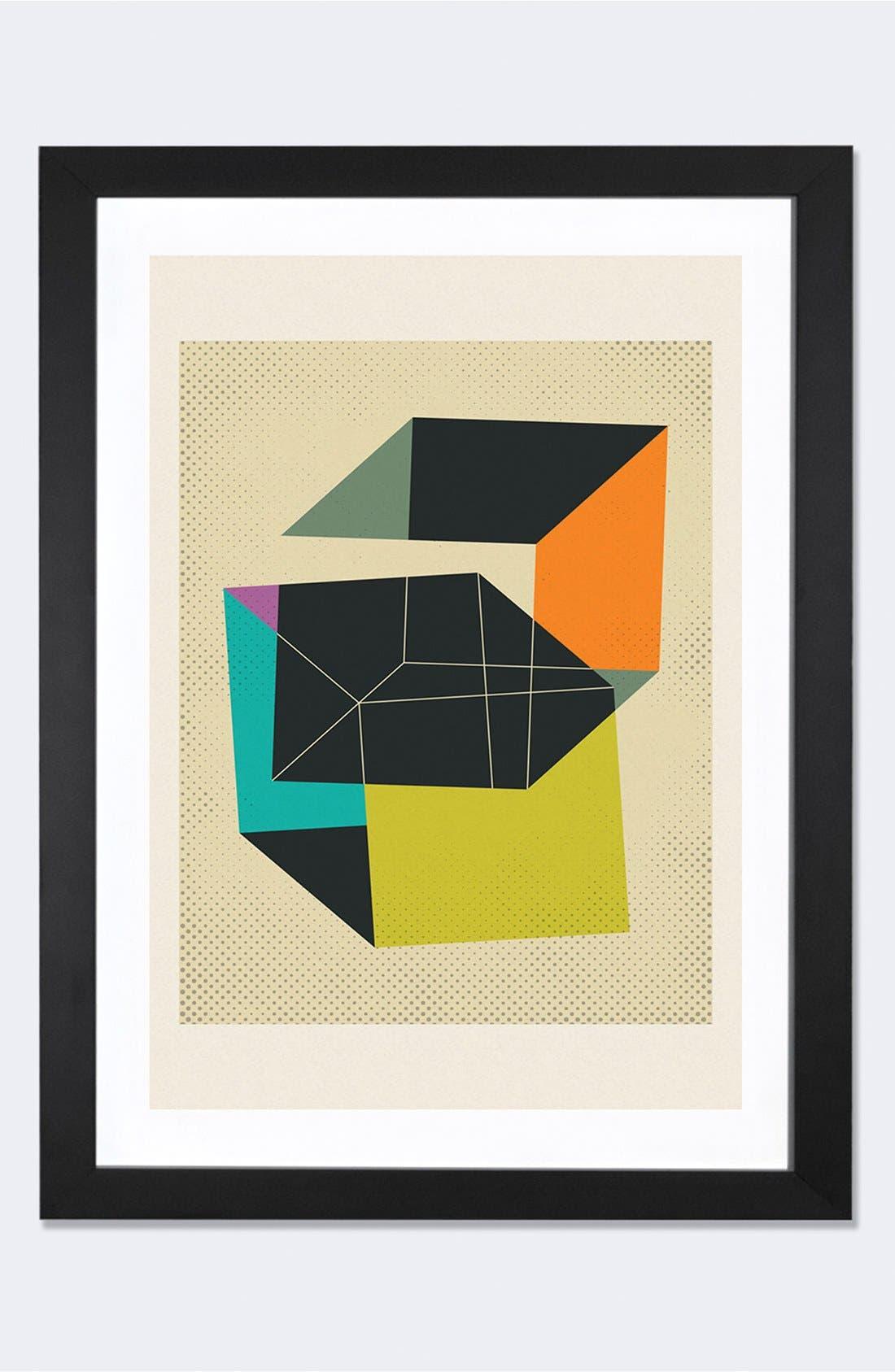 'Cubes V' Framed Fine Art Print,                             Main thumbnail 1, color,                             Black