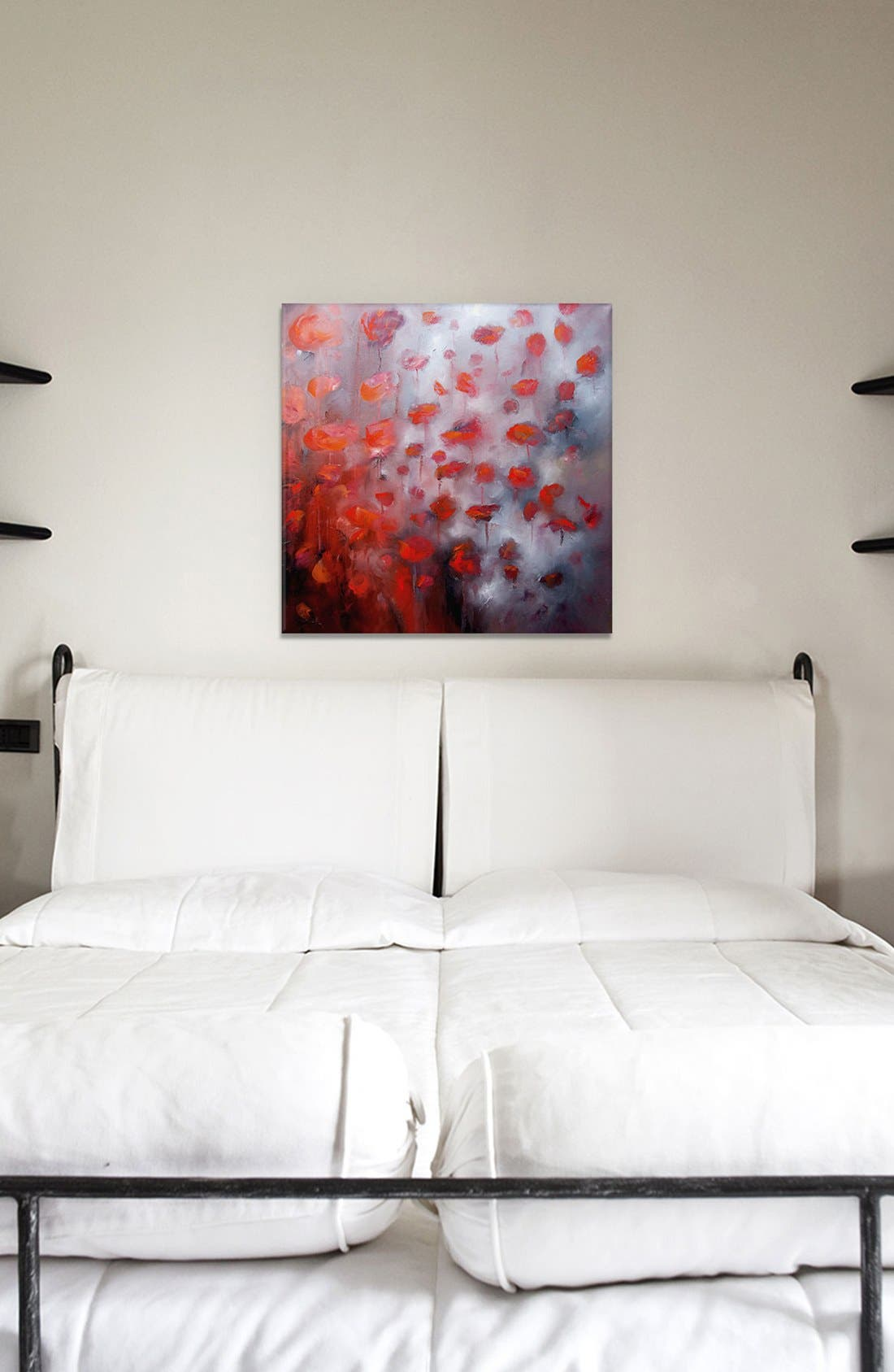 'Petals in Wind' Giclée Print Canvas Art,                             Alternate thumbnail 2, color,                             Red