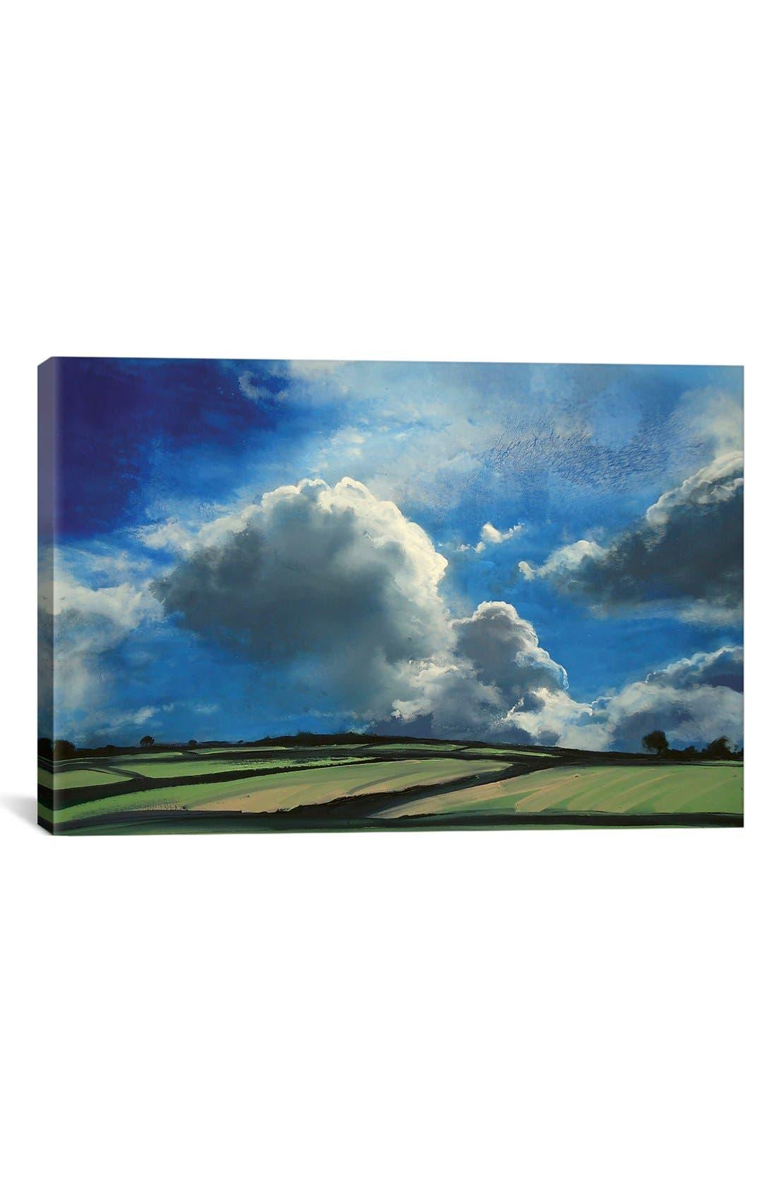 'Beyond Summer Sky' Giclée Print Canvas Art,                         Main,                         color, Blue