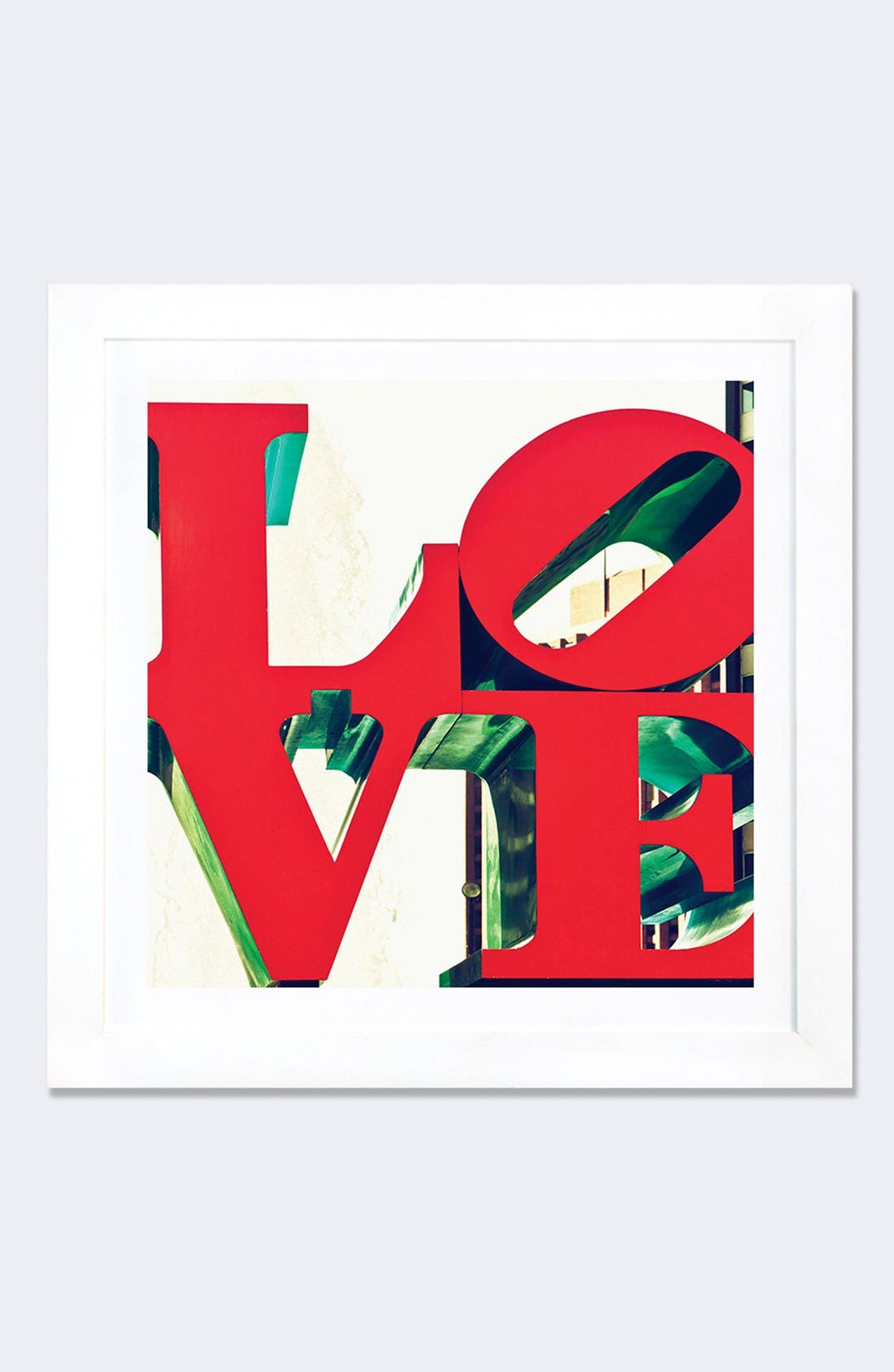 'Love' Framed Fine Art Print,                         Main,                         color, Red
