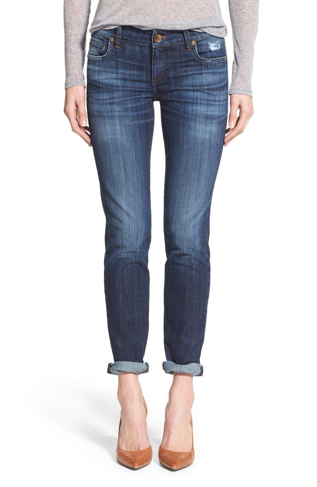 'Catherine' Stretch Boyfriend Jeans,                             Main thumbnail 1, color,                             Goal
