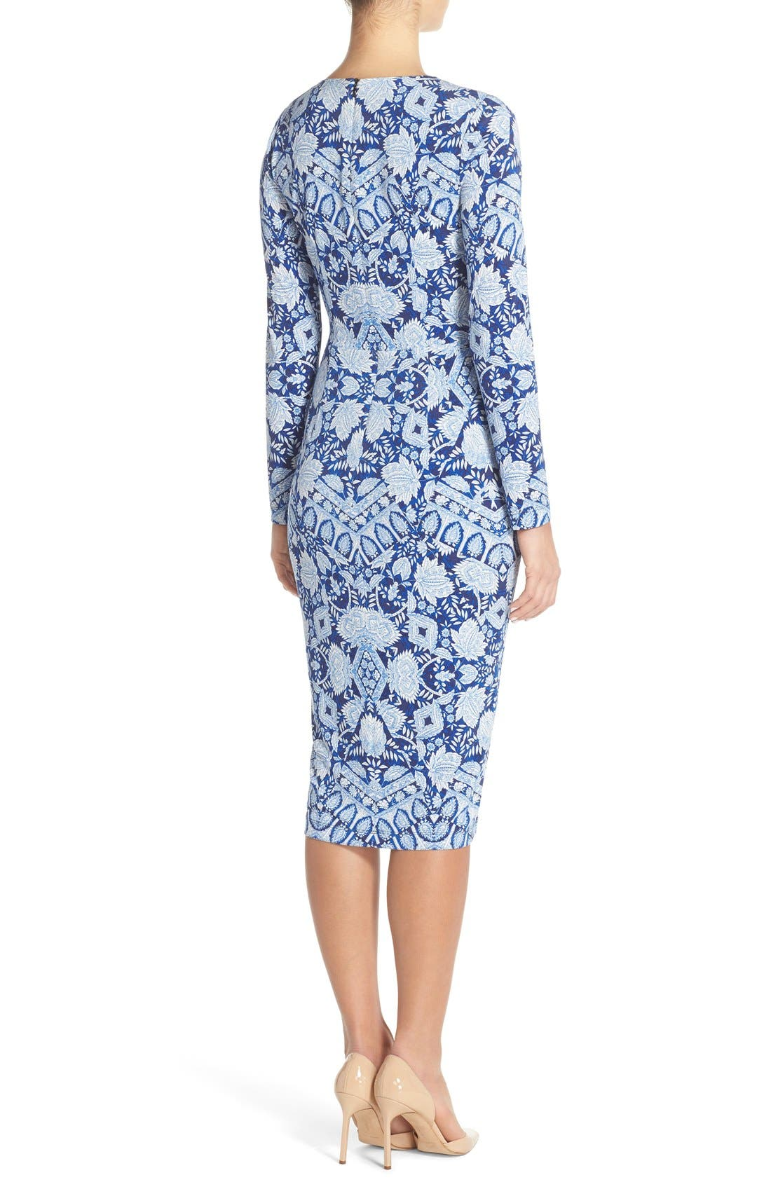 Alternate Image 2  - Maggy London Print Jersey Midi Dress