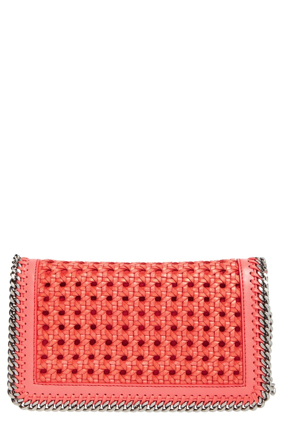 Alternate Image 1 Selected - Stella McCartney 'Falabella - Caned' Faux Leather Crossbody Bag