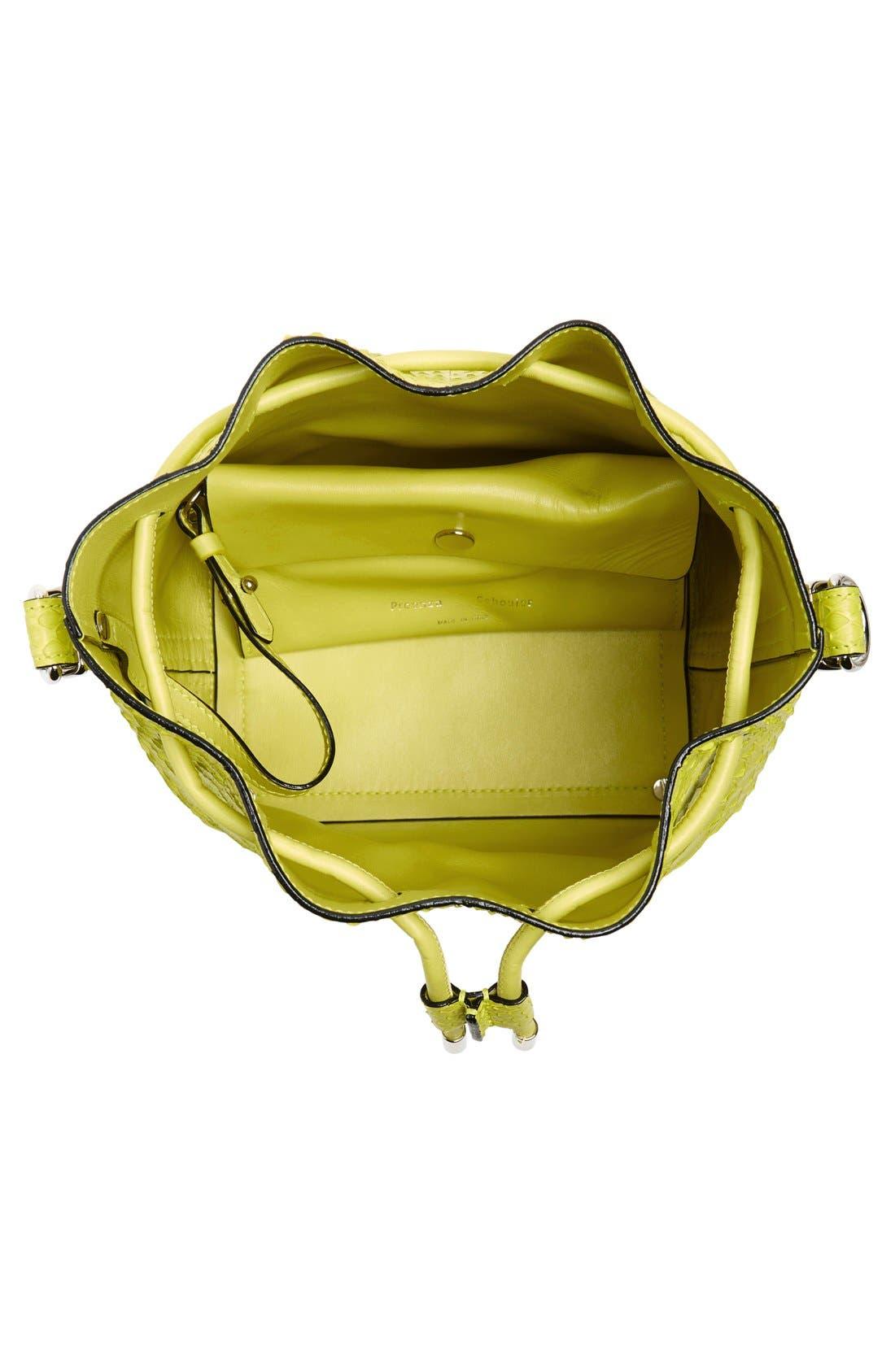 Alternate Image 4  - Proenza Schouler Small Genuine Python Bucket Bag