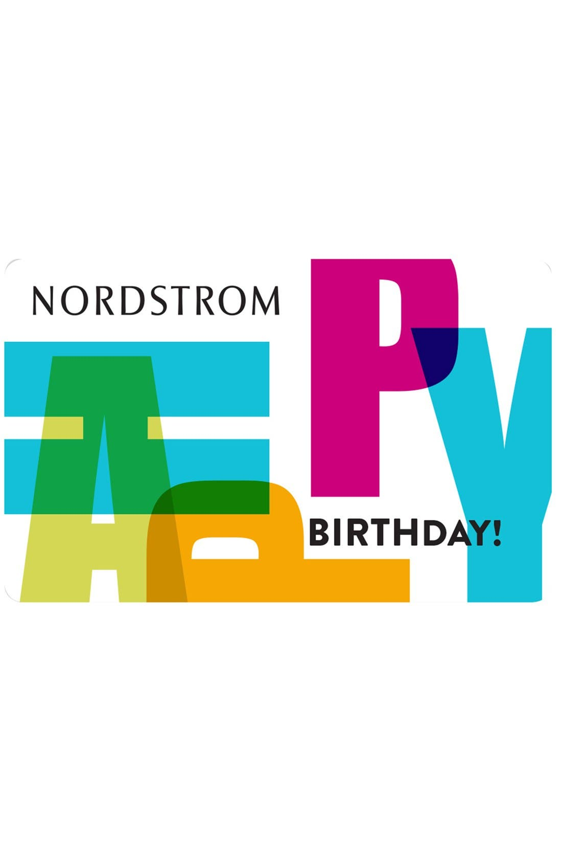 Nordstrom Happy Birthday Greeting Card & Gift Card