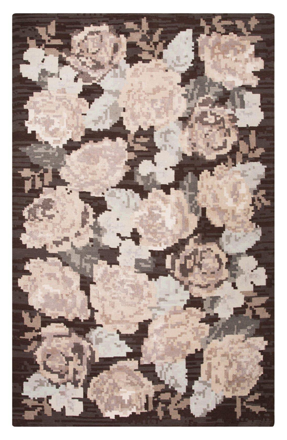 kate spade new york 'murray - floral pattern' wool blend rug