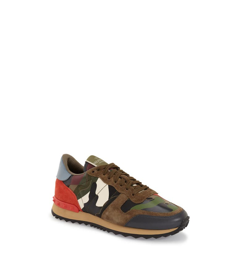 valentino rockstud camo sneaker women nordstrom. Black Bedroom Furniture Sets. Home Design Ideas