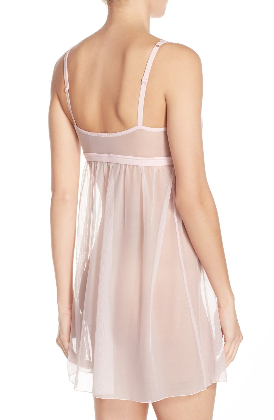 'Minoa' Babydoll Chemise,                             Alternate thumbnail 2, color,                             Pink Lilly