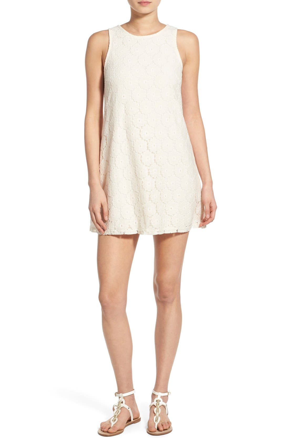 Alternate Image 1 Selected - Speechless 'Daisy' Lace Sleeveless Shift Dress