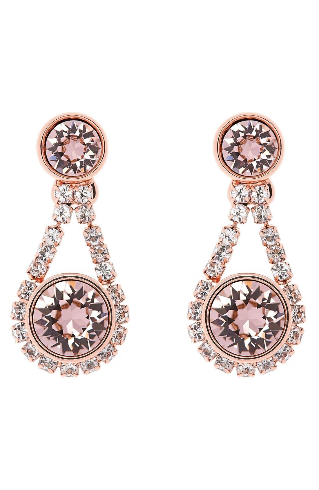 Main Image - Ted Baker London 'Crystal Daisy' Drop Earrings