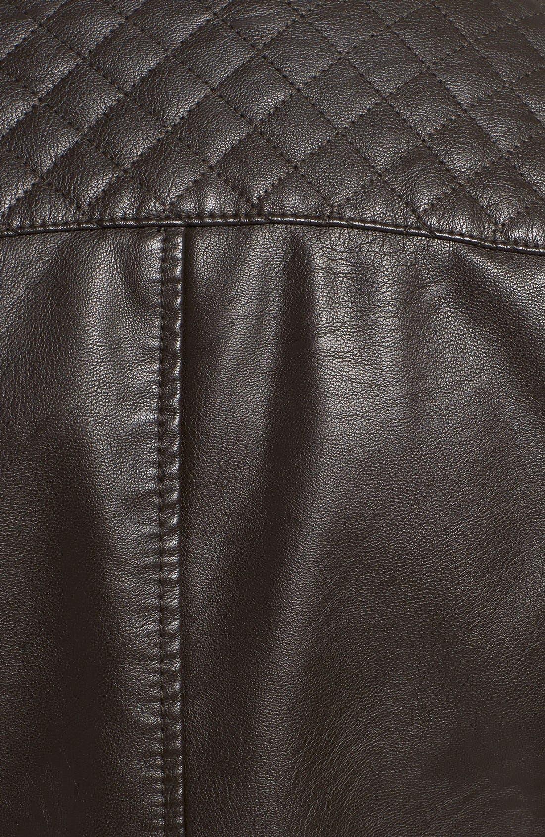 Alternate Image 5  - Levi's® Quilt Detail Faux Leather Racer Jacket