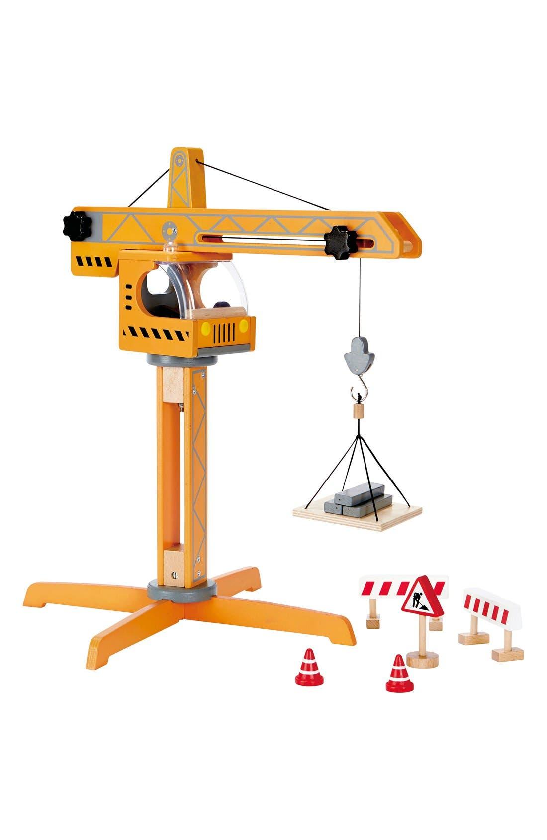 Crane Lift Toy,                         Main,                         color, Yellow