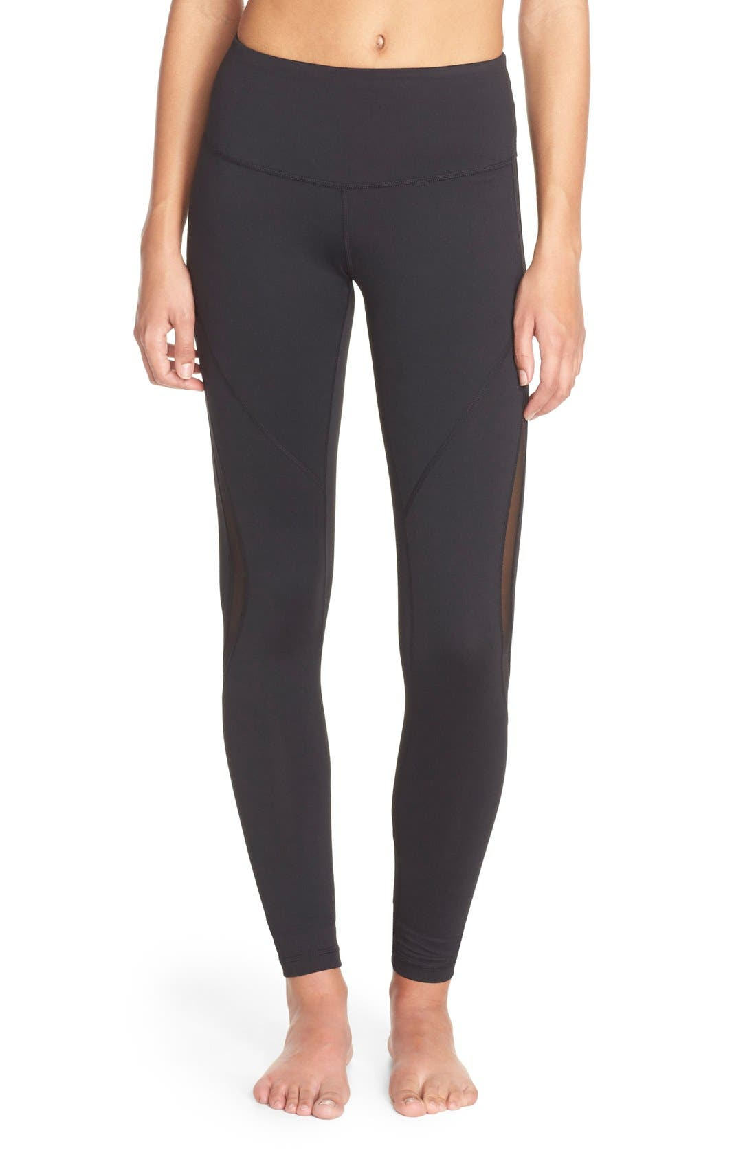 Alternate Image 2  - Zella Sheer to Here High Waist Leggings