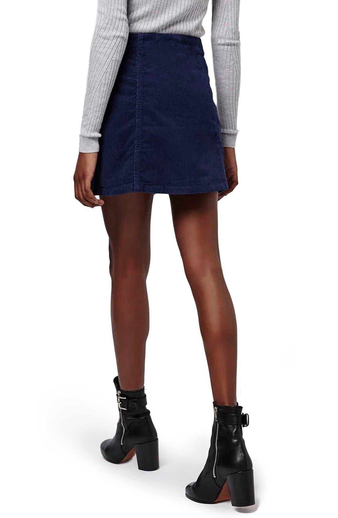 Alternate Image 3  - Topshop A-Line Corduroy Skirt