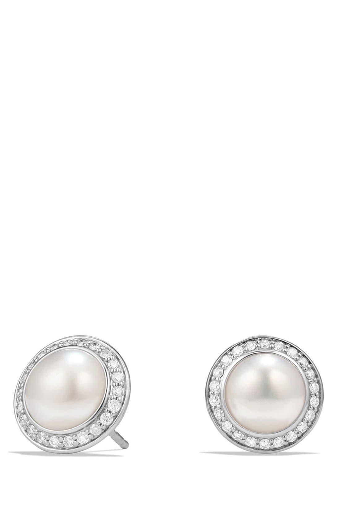 DAVID YURMAN Cerise Petite Earrings with Pearls and Diamonds