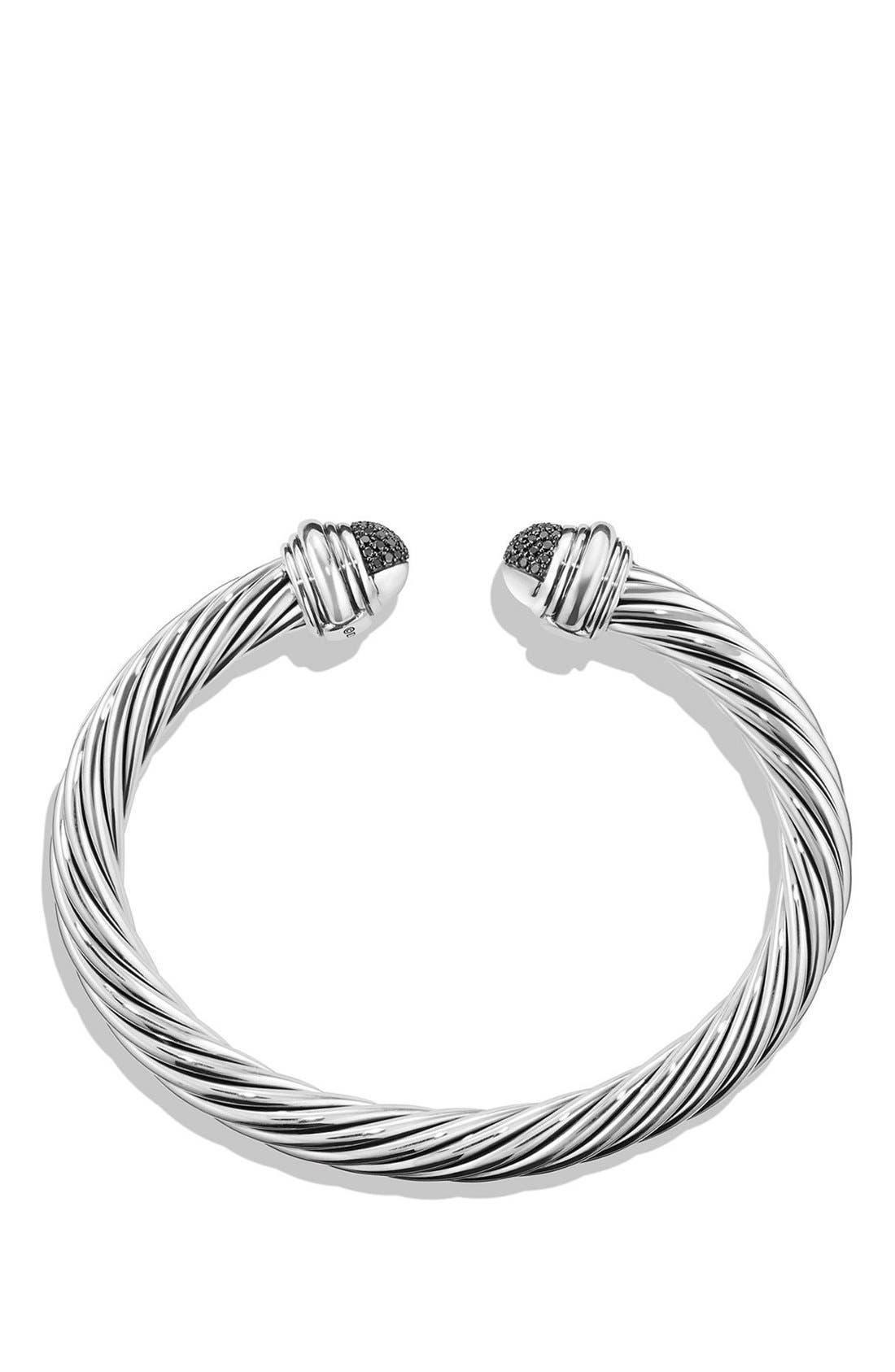 Alternate Image 2  - David Yurman 'Cable Classics' Bracelet with Black Diamonds