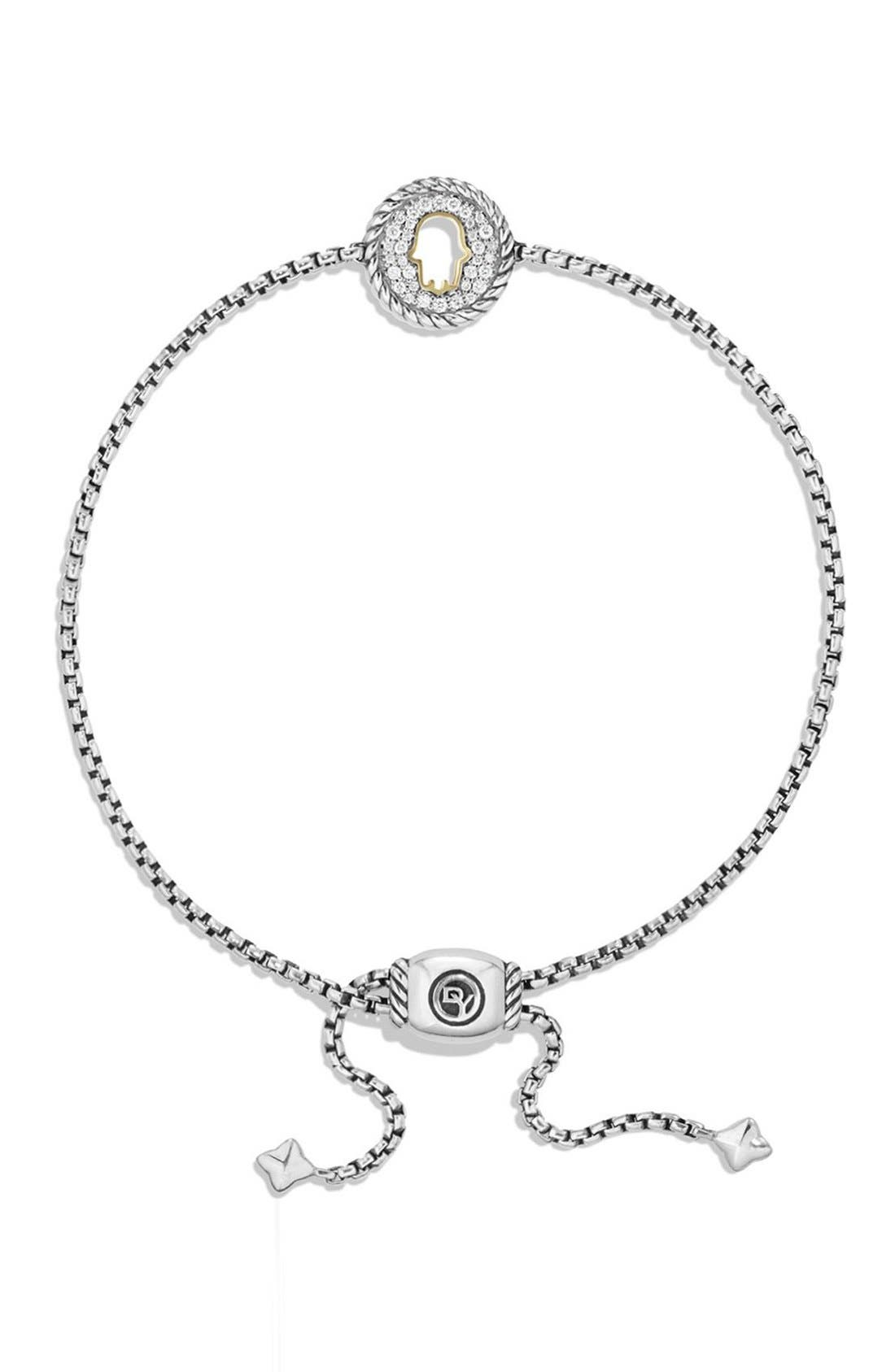 Alternate Image 2  - David Yurman 'Cable Collection' Petite Pavé Hamsa Bracelet